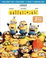 Minions 3D (3 Disc Set : Blu-ray + DVD + Digital HD + UltraViolet)